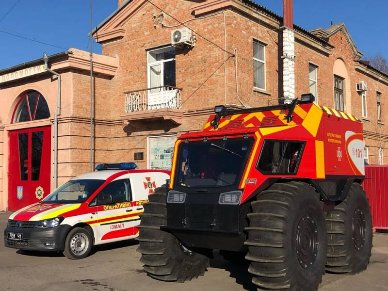 SHERP delivers special vehicle to rescuers of Izmail, Ukraine